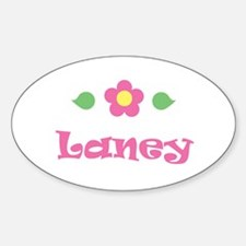 """Pink Daisy - """"Laney"""" Oval Decal"""