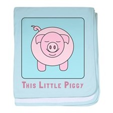 This Little Piggy baby blanket