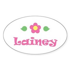 """Pink Daisy - """"Lainey"""" Oval Decal"""