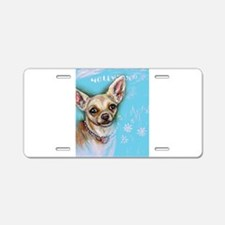 Hollywood Chihuahua flowers Aluminum License Plate