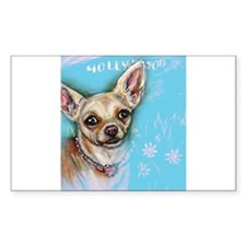 Hollywood Chihuahua flowers Decal