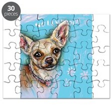 Hollywood Chihuahua flowers Puzzle