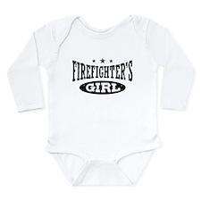 Firefighter's Girl Long Sleeve Infant Bodysuit
