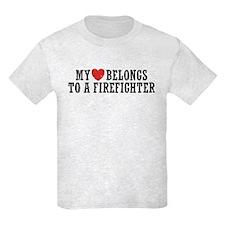 My Heart Belongs to a Firefighter T-Shirt