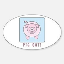 Pig Out Decal