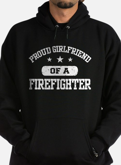 Proud Girlfriend of a Firefighter Hoodie (dark)