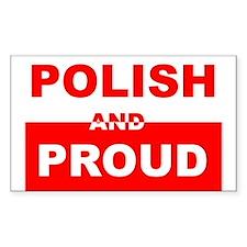 POLISH AND PROUD T-SHIRT Rectangle Decal