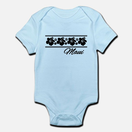 B & W Maui Hibiscus Infant Bodysuit