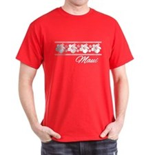 B & W Maui Hibiscus T-Shirt