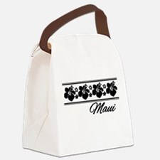 B & W Maui Hibiscus Canvas Lunch Bag