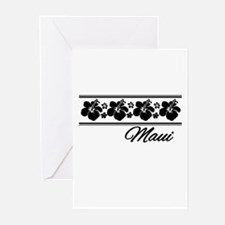 B & W Maui Hibiscus Greeting Cards (Pk of 10)