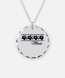 B & W Maui Hibiscus Necklace