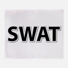 SWAT - Black Throw Blanket