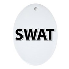 SWAT - Black Ornament (Oval)