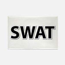 SWAT - Black Rectangle Magnet (100 pack)