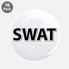 "SWAT - Black 3.5"" Button (10 pack)"