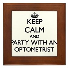 Keep Calm and Party With an Optometrist Framed Til