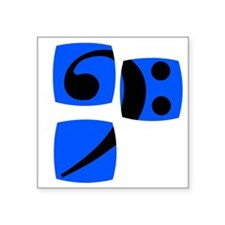 """Bass clef for bass player a Square Sticker 3"""" x 3"""""""