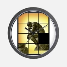 The Thinker, image sliding puzzle game, Wall Clock