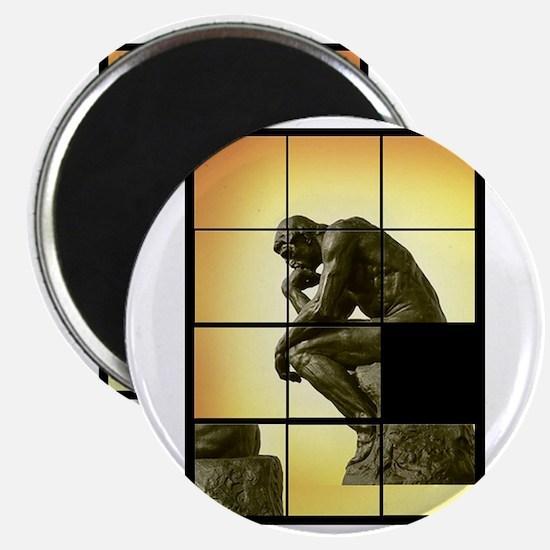 The Thinker, image sliding puzzle game, Le  Magnet