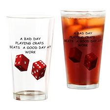 CRAPS2 Drinking Glass