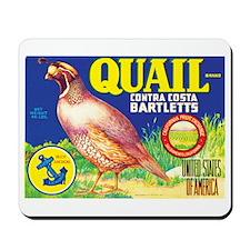 """Quail Brand Pears"" Mousepad"