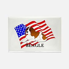 Beagle USA Rectangle Magnet