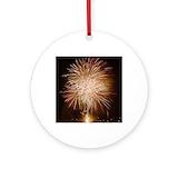 Fireworks Round Ornaments