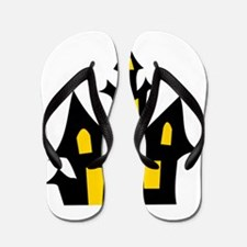 Halloween Haunted House Flip Flops