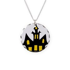 Halloween Haunted House Necklace