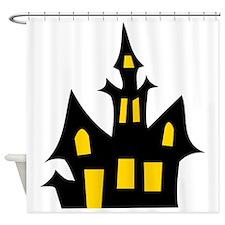 Halloween Haunted House Shower Curtain