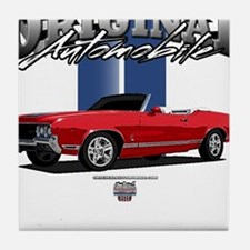 Musclecar Red Convertible Tile Coaster