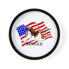 Beagle USA Wall Clock