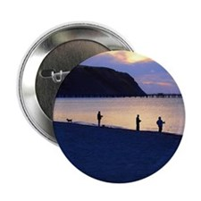 """Sunset Fishing 2.25"""" Button"""