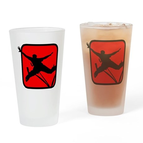 Bungee Jumping 3 Drinking Glass