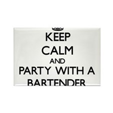 Keep Calm and Party With a Bartender Magnets