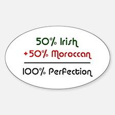 Irish & Moroccan Oval Decal