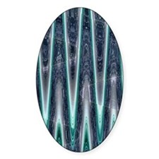 Teal Abstract Pattern Decal