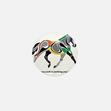 Charkas Horse Mini Button