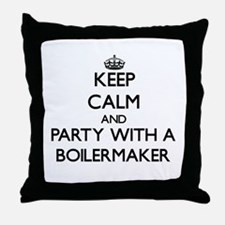 Keep Calm and Party With a Boilermaker Throw Pillo