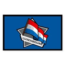 """Luxembourg Star Flag"" Rectangle Decal"