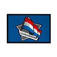 """Luxembourg Star Flag"" Rectangle Magnet"
