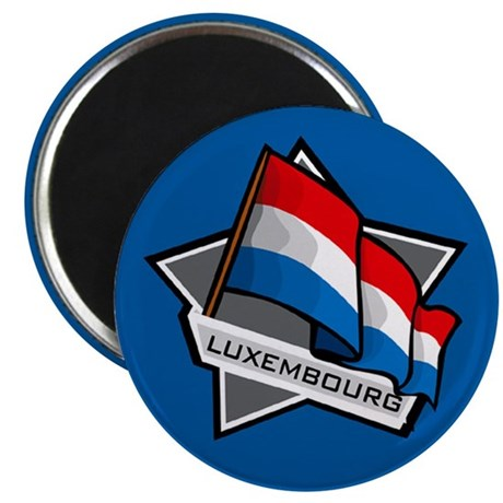 """""""Luxembourg Star Flag"""" 2.25"""" Magnet (10 pack)"""