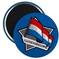 """""""Luxembourg Star Flag"""" Magnet"""