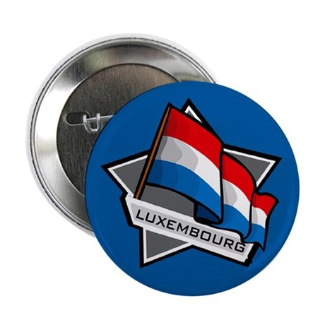 """""""Luxembourg Star Flag"""" 2.25"""" Button (10 pack)"""