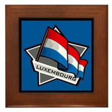 """Luxembourg Star Flag"" Framed Tile"
