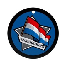 """Luxembourg Star Flag"" Ornament (Round)"
