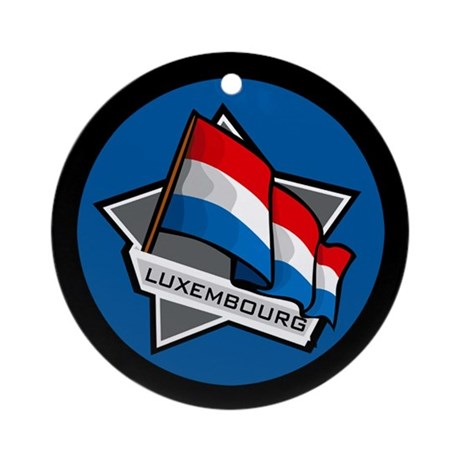"""""""Luxembourg Star Flag"""" Ornament (Round)"""