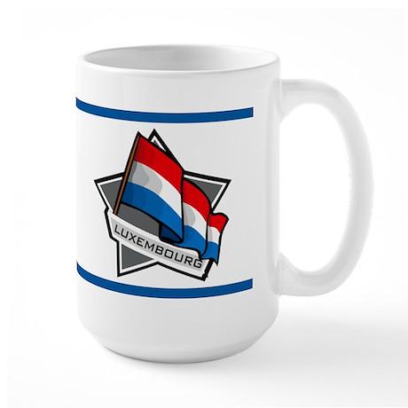 """Luxembourg Star Flag"" Large Mug"