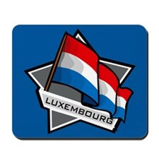 """Luxembourg Star Flag"" Mousepad"